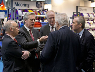 Minister for International Trade, Mark Garnier, at the London Boat Show