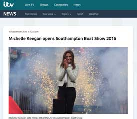 ITV website coverage of the Southampton Boat Show